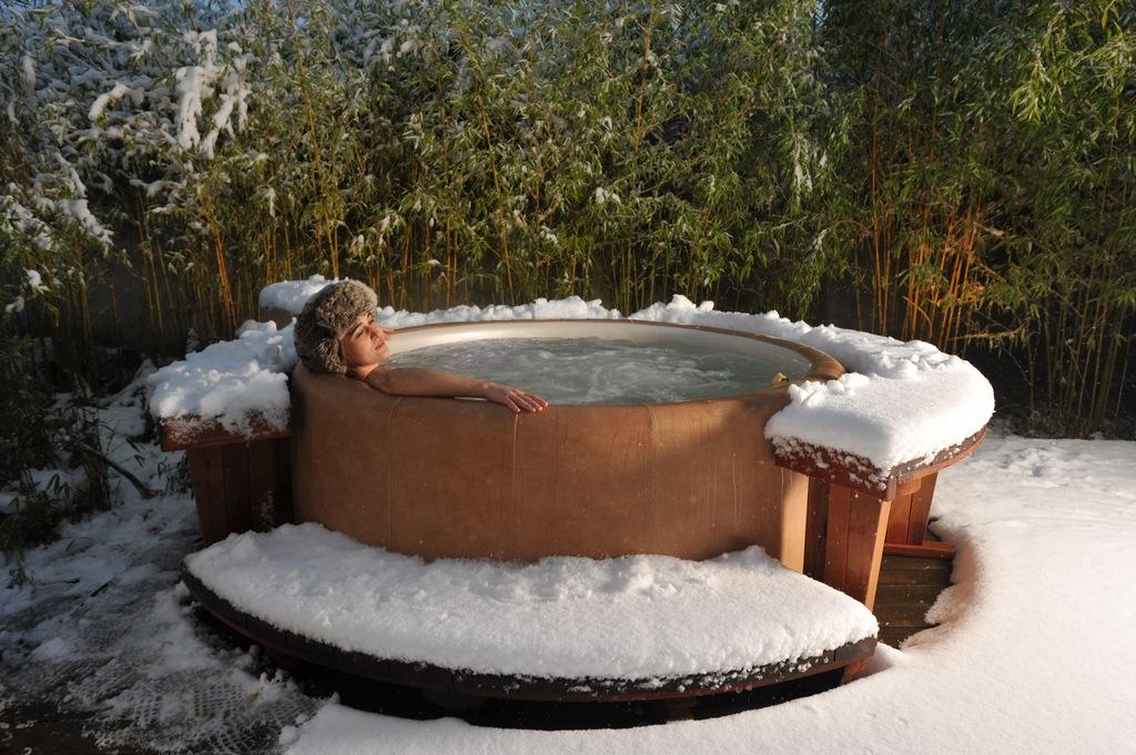 Softub hot tub in winter