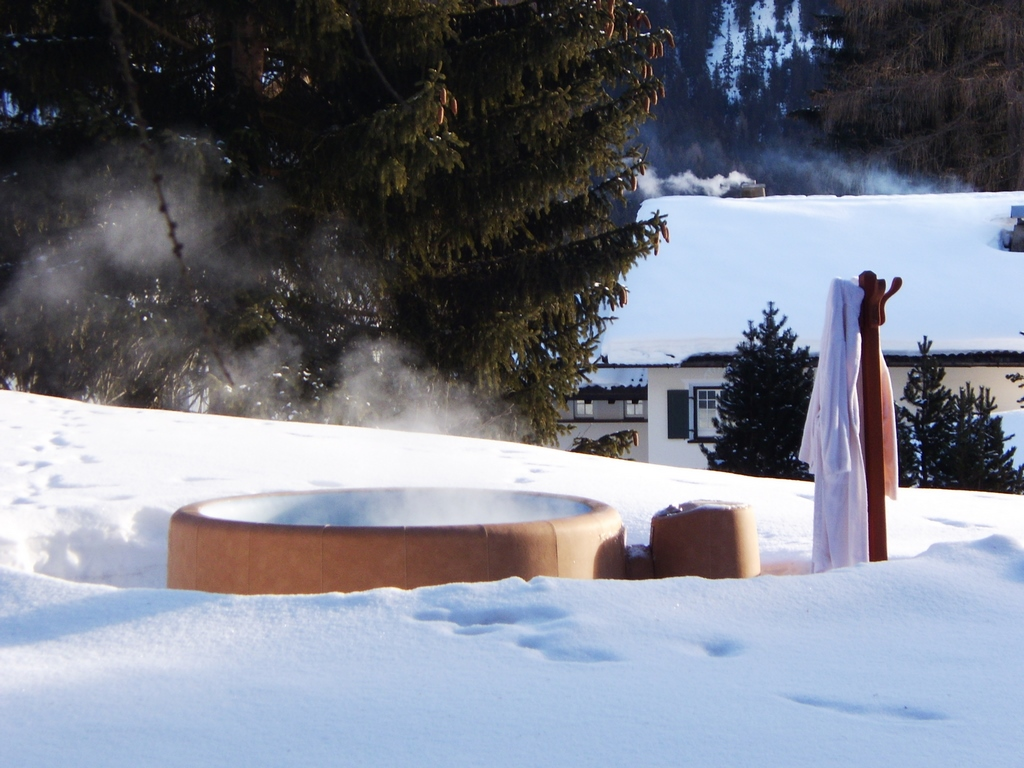 snowed in in your Softub hot tub