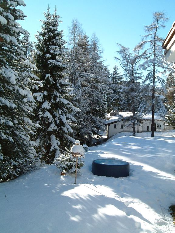 hot tub winter wonderland